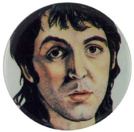The Beatles - 'Paul Sketch' Button Badge